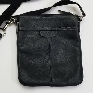Coach black pebbled leather crossbody